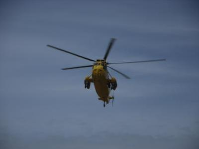 RAF Valley 22 Squadron Search & Rescue Helicopter