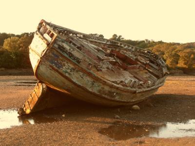 Dulas Lagoon Wrecked Boat