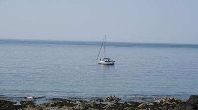 Church Bay Yacht Popping By For A Cream Tea