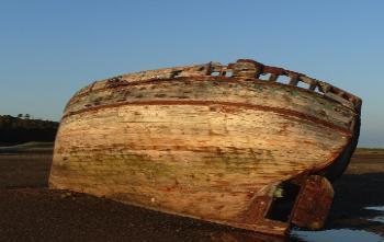 Abandoned Fishing Boat on Dulas Lagoon, Anglesey