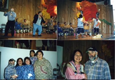 Dawns Werin gyda Indiaid Cochion<br>Folk Dancing with American Indians.