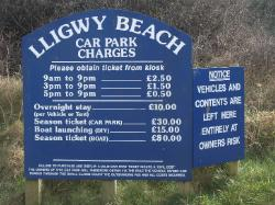Lligwy Beach Parking Charges