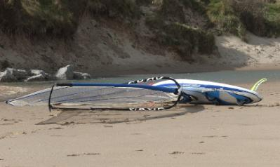 Lligwy Beach Windsurfer Anglesey Hidden Gem