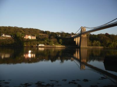 Thomas Telford's Suspension Bridge - Menai Straits Evening Beauty - Anglesey Hidden Gem