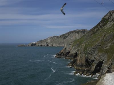North Stack fromSouth Stack Lighthouse on Holy Island Anglesey Hidden Gem