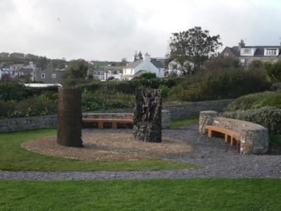 Royal Charter Memorial Sculpture at Moelfre on Anglesey