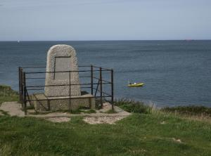 Royal Charter Monument on the Moelfre Coastline