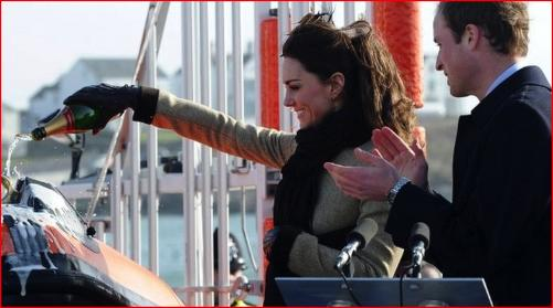 Prince William & Kate Middleton at Trearddur Bay RNLI Lifeboat