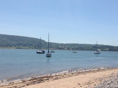 www.anglesey-hidden-gem.com - Red Wharf Bay yachts at rest