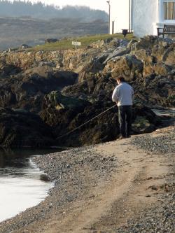 Fishing at Cymyran Beach, Rhosneigr
