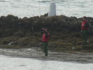 Fishing off Rhosneigr Beach