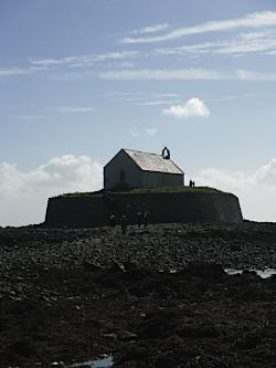St Cwyfan's Church in the Sea - Aberffraw on Anglesey
