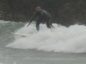 Surfing at Cable Bay