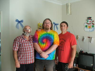 Gordon (me) and my two sons, in Melbourne, Australia