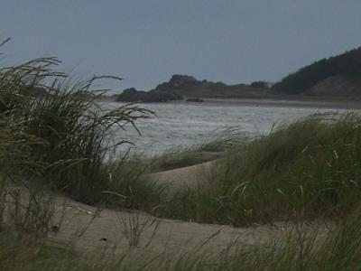 Llanddwyn Beach looking toward Llanddwyn Island