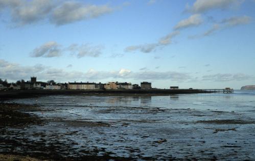 Gallows Point on the Menai Straits at Beaumaris Anglesey