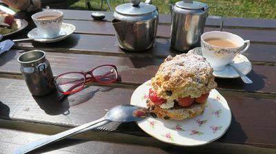 Church Bay - That's the Legendary Wavecrest Cafe Cream Scone