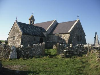 The Church of St Peuno at Llanbeuno - Near Gwalchmai on Anglesey