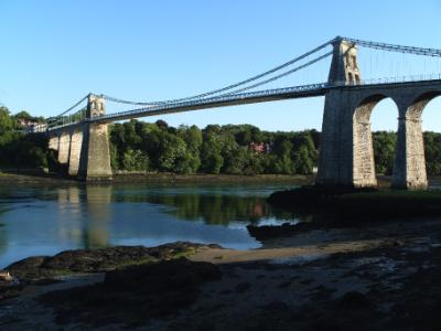 Thomas Telford's Suspension Bridge - Menai Bridge