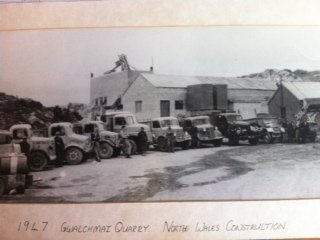 Gwalchmai Quarry, Anglesey, 1947