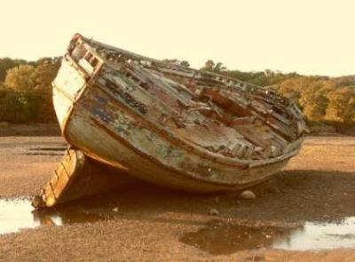 Dulas  Abandoned Fishing Boat