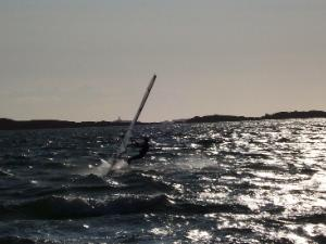 Anglesey Evening Windsurfer