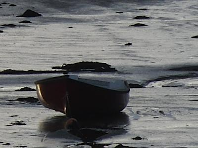 Malltraeth - Estuary Mud-Bound Boat