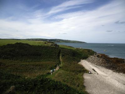 Beach at Moelfre on Anglesey Coastal Path