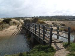 Foot Bridge Lligwy Beach on Anglesey Coastal Path